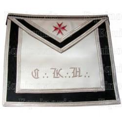 Tablier maçonnique en faux cuir – REAA – 30ème degré – Chevalier Kadosch – CKH